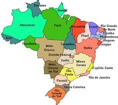 BRASIL ESTADOS E CAPITAIS E MAPA ATUALIZADO - DADOS E ESTATÍSTICAS | PORTAL ESCOLA