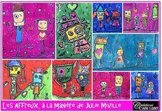 Julie Miville Painting Artist Julie, Artist Painting, Bracelets, Handmade, Monsters, Arts Plastiques, Toys, Artists, Characters