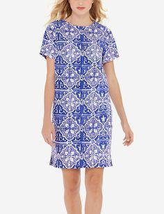 Tile Print Shift Dress   Women's Dresses & Skirts   THE LIMITED