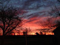 Stunning sunrise over Fox, OK