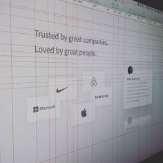 Testimonials and clients section. Working with grids  by bluroon
