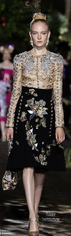 Dolce & Gabbana Alta Moda Premiere 2015, A Midsummer Night's Dream Collection | Purely Inspiration