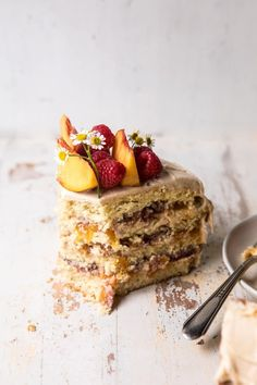 """sweetoothgirl: """" peach ricotta layer cake with browned butter buttercream """" Baking Recipes, Cake Recipes, Dessert Recipes, Food Cakes, Cupcake Cakes, Cupcakes, Half Baked Harvest, Macaron, Brown Butter"""