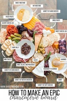 Charcuterie Recipes, Charcuterie Platter, Charcuterie And Cheese Board, Cheese Board Display, Cheese Boards, Charcuterie Display, Party Food Platters, Cheese Platters, Cocktail Dinner