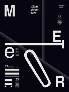 Projet Meteor / Série d'affiches on Behance