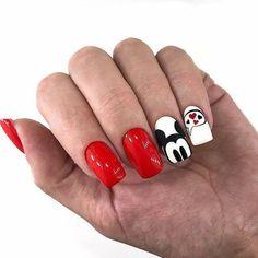 hansen magical nail makeup nail art nailart and nail makeup nail makeup prom dress makeup nail design inc nail makeup harley gardens nail designs ten nail & makeup studio Mickey Mouse Nail Design, Mickey Mouse Nails, Crazy Nails, Love Nails, Pretty Nails, Disney Acrylic Nails, Best Acrylic Nails, Nail Manicure, Gel Nails