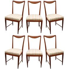 Set of Six Paolo Buffa Dining Chairs   From a unique collection of antique and modern dining room chairs at https://www.1stdibs.com/furniture/seating/dining-room-chairs/
