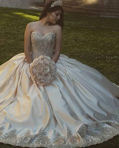 Plus Size Prom Dress, Gold Lace Embroidery Sweetheart Satin Ball Gowns Quinceanera Dresses Shop plus-sized prom dresses for curvy figures and plus-size party dresses. Ball gowns for prom in plus sizes and short plus-sized prom dresses Tulle Prom Dress, Ball Gown Dresses, Prom Dresses, Gold Quinceanera Dresses, Prom Ballgown, Dress Party, Xv Dresses, Quinceanera Party, Sweetheart Wedding Dress
