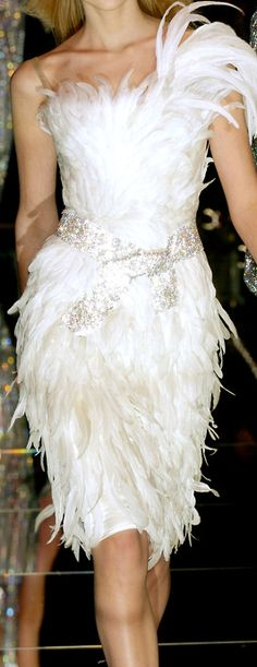 Fashion fabulous in feathers and fur serendipity on for White feather wedding dress