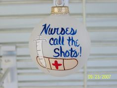 Handpainted Nurse Christmas Ornament by BonnieRobbins on Etsy Cute Christmas Tree, Christmas Makes, Christmas Tree Ornaments, Christmas Decorations, Diy Ornaments, Ball Ornaments, Merry Christmas, Christmas Projects, Holiday Crafts