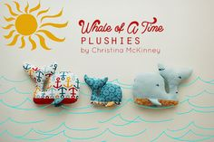 Free Pattern: Whale Of A Time Plushie | by Christina McKinney