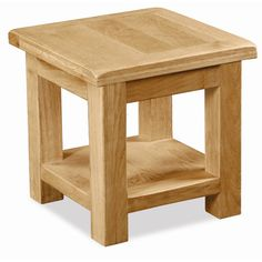 This Carefully Crafted Solid Sherwood Oak Lamp Table With