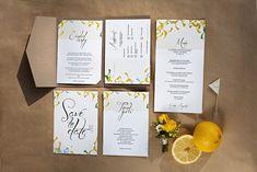 Gelbe Gartenparty zur Hochzeit | Hochzeitseinladungen