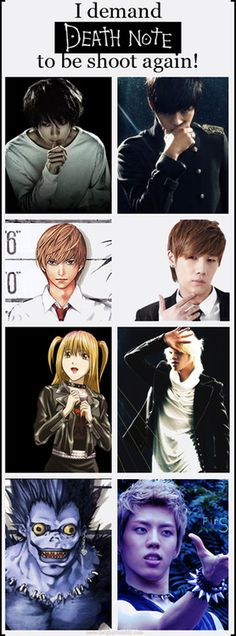 I SEE NO DIFFERENCE LOL // THIS IS PERFECT IT SHOULD BE DONE!!!!// YASSSSSSSSSS INFINITE AND DEATHNOTE!!!!