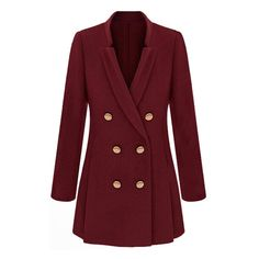 Stand Collar Military Coat With Gold Buttons ($53) ❤ liked on Polyvore featuring outerwear, coats, black, military coat, stand collar coat, stand up collar coat and field coat