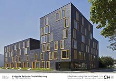 Hollande Béthune Social Housing by FRES Architectes Architecture Design, Fritz, Social Housing, Habitats, Facade, Multi Story Building, France, Urban, Conversation