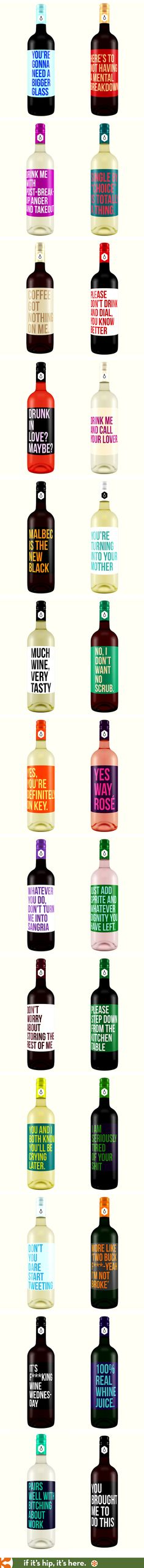 If Wine Labels Spoke The Truth. 26 Honest Wine Labels.