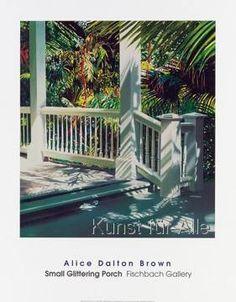 Alice Dalton Brown - Small Glittering Porch, 1989