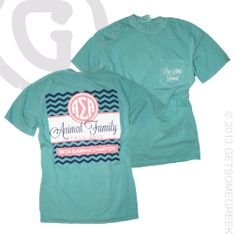 ALPHA SIGMA ALPHA SORORITY ANIMAL FAMILY COMFORT COLORS POCKET T!! CHEVRON, PINK, NAVY, AND ALPHA SIGMA ALPHA!! WHAT'S NOT TO LOVE!