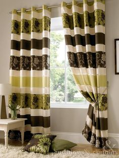 Jasmine Chocolate Brown Taffeta Eyelet Curtain - Curtains UK  $56 pounds? I don't know what that is in US dollars