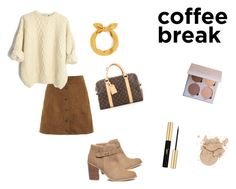coffee break by hilalozkan on Polyvore featuring moda, Sole Society, Louis Vuitton and Yves Saint Laurent