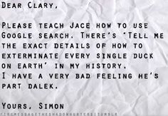 Part Dalek YES!!! Haha, Simon's a Whovian!! It's only right!!
