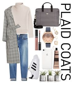 """#plaidcoats"" by kayquarter on Polyvore featuring Frame, Vanessa Seward, Zimmermann, Kate Spade, Aesop, Sephora Collection, Karl Lagerfeld, GUESS and adidas"