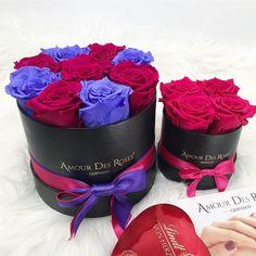 """Gefällt 2 Mal, 0 Kommentare - Amour Des Roses® Rosenbox (@amourdesroses.de) auf Instagram: """"Do you prefer colorful or simple?🤔 #amourdesroses #rosebox #flowerbox #simple #colorful"""" Lindt, Flower Boxes, Instagram, Simple, Infinity, Desserts, Color, Natural, Roses"""