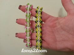 Rainbow Loom BUTTERFLY SINGLE Bracelet (reversible). Designed by Jessie @Loomingbyj (Instagram). Tutorial and looming by Loves2Loom. Click photo for YouTube tutorial. 06/09/14.