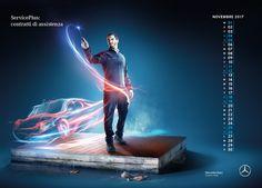 Mercedes Benz Calendar After Sales 2017 on Behance