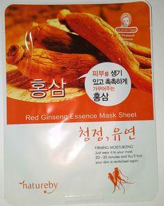 Natureby Red Ginseng Essence Mask K-Beauty 1pcs #Natureby