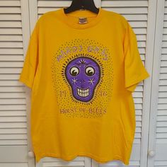 7dfbd3fa2dc House of Blues New Orleans 1996 Mardi Gras Tee Art by Brent Spears Mens XL #