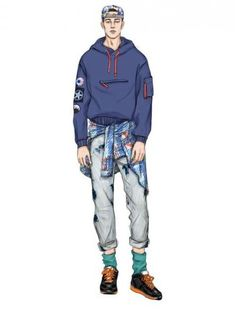 671 best mens fashion illustration images in 2019 Fashion Illustration Sketches, Illustration Mode, Fashion Design Sketches, Sketch Fashion, Drawing Fashion, Best Mens Fashion, Trendy Fashion, Fashion Art, Style Fashion