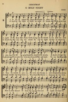 Hymn Challenge O Holy Night Words Written by: Placide Cappeau b. August 1877 Placide Cappeau was a Fre. Vintage Sheet Music, Vintage Sheets, Old Sheet Music, Sheet Music Crafts, Church Songs, Christmas Sheet Music, Illustration Noel, Favorite Christmas Songs, Music Page