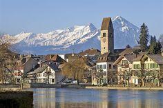 Interlaken, Switzerland. Skied here when I was a teenager. Such fun.