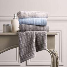 Christy Fine Stripe 500gsm Cotton Towels - Flint