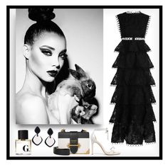 """playing in black & white"" by art-gives-me-life ❤ liked on Polyvore featuring Zimmermann, Alexandre Birman, Prada, Monies, contestentry and polyvorefashionistas"