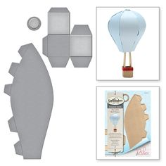 Best 12 Shapeabilities Hot Air Balloon Etched Dies My Little Red Wagon by Debi Adams – SkillOfKing. Balloon Crafts, 3d Paper Crafts, Paper Toys, Diy Crafts, Diy Hot Air Balloons, Hot Air Balloon Paper, Balloon Template, Decoration Vitrine, Balloon Display