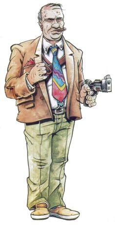 shadowrun; male; human; balding; detective