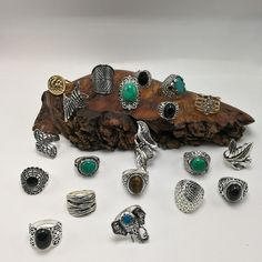 Bundle 20 rings PLUS Turquoise turkish gems Gold And Silver Rings, Turquoise, Customer Support, Mixed Metals, 9 And 10, Vintage Antiques, Gems, Product Description, Things To Sell