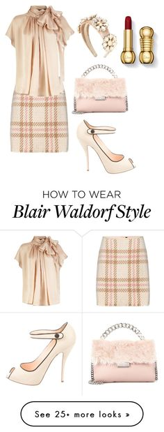 """""""Blair Waldorf#68"""" by allison-vysotsky on Polyvore featuring MARC CAIN, Dolce&Gabbana, Christian Louboutin and STELLA McCARTNEY"""