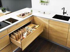 La naturalezza del legno per le cucine Team 7