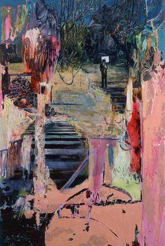 Painting by Hernan Bas