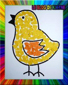 Un poussin en gommettes Preschool Color Activities, Art Activities For Kids, Art For Kids, Paper Plate Crafts For Kids, Easter Crafts For Kids, Easy Art Projects, Bird Theme, Easy Crafts, Diy Crafts