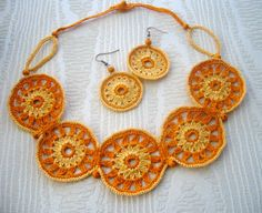 Necklace and earrings set    http://www.etsy.com/shop/CraftsbySigita
