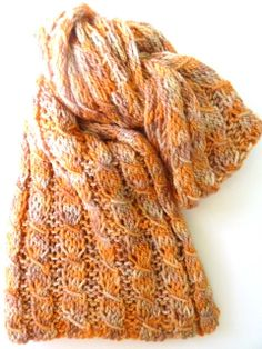 Honey Yellow Silky Merino Hand Knit Scarf by StitchesnQuilts,