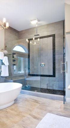 river rock shower floor, stone shower floor, natural stone bathroom