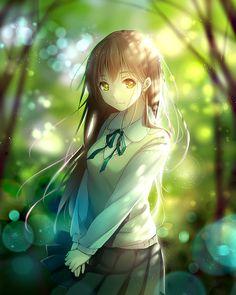 anime girl in light... see more cartoon pics at www.freecomputerdesktopwallpaper.com/wcartoonsfive.shtml