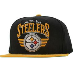 c5450de14 Mitchell and Ness Pittsburgh Steelers STA3 Wool Snapback Cap (black / yellow)  NZF30-