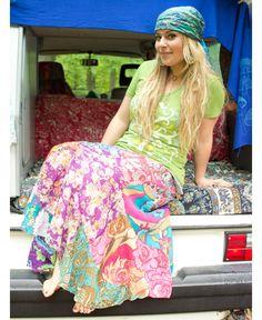 NEW! Wanderlust Patchwork Skirt #liviniseasy @Soul Flower
